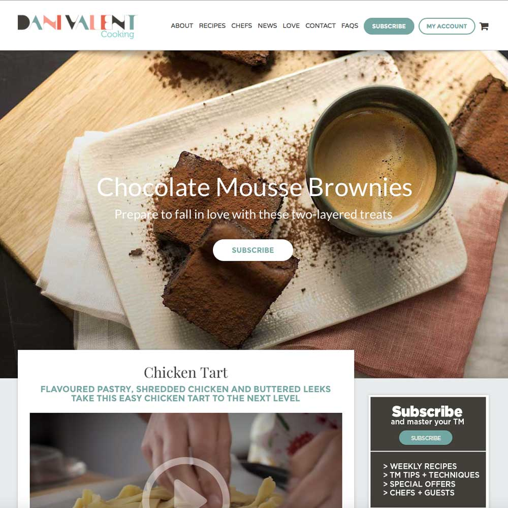 Dani Valent Cooking wordpress website